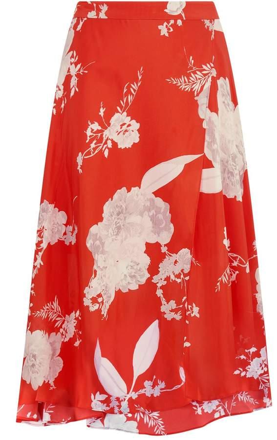 Alice + Olivia Nanette Floral Wrap Skirt