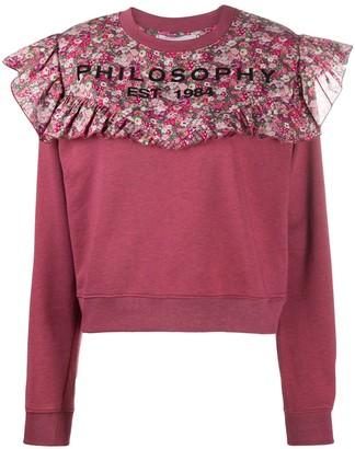 Philosophy di Lorenzo Serafini Floral Print Panelled Sweatshirt