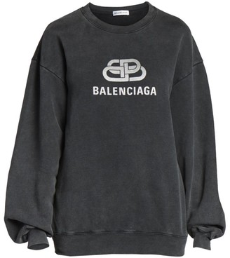 Balenciaga Metallic Logo Crewneck Sweater