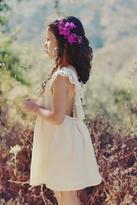 Louise Misha Alba Lurex White Dress