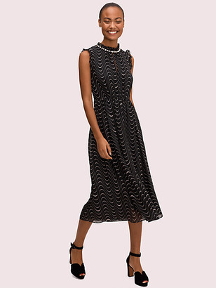 Kate Spade Wavy Dot Silkdress