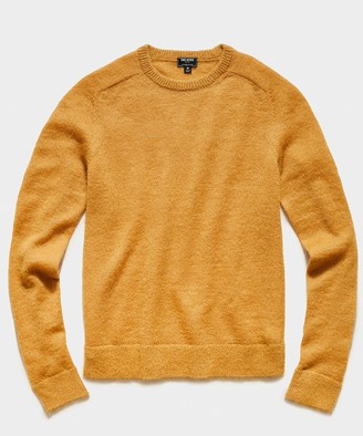 Todd Snyder Brushed Italian Mohair Wool Sweater in Mustard