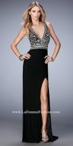 La Femme Taylor High Slit Prom Dress