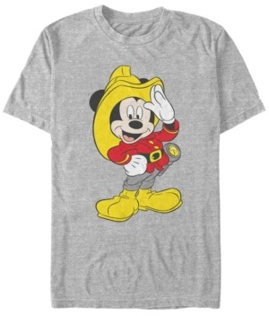 Fifth Sun Men's Mickey Firefighter Short Sleeve T-Shirt