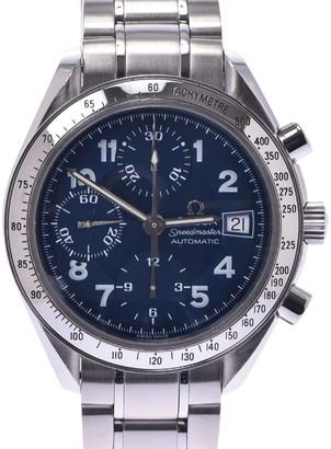 Omega Blue Stainless Steel Speedmaster 3513.82 Automatic Men's Wristwatch 37 MM