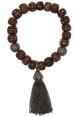Loree Rodkin Crack-Effect Beaded Bracelet