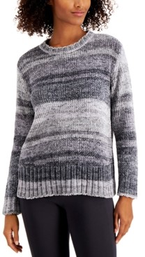 Style&Co. Style & Co Printed Chenille Sweater, Created for Macy's, Regular & Petite