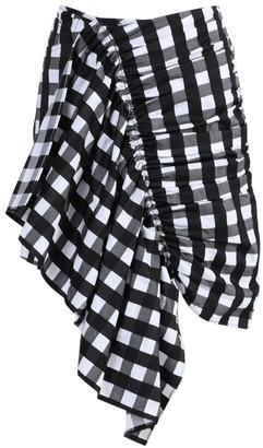 Marques Almeida Black And White Gathered Mini Skirt