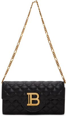 Balmain Black Quilted B-Wallet Chain Bag