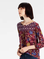 Lucky Brand Aren Embroidered Top