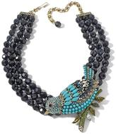 "Heidi Daus Marquise Madness"" 3-Row Beaded Crystal Bird Station Necklace"