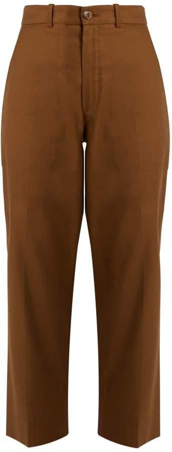 Chloé Linen and cotton-blend trousers