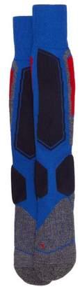 Falke Ess - Sk1 Knee High Ski Socks - Mens - Blue Multi