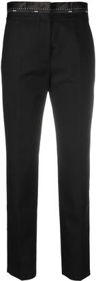 MSGM Cropped Wool Trousers