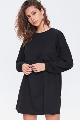 Forever 21 Fleece Drop-Sleeve Mini Dress