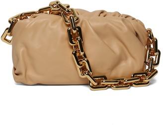 Bottega Veneta Chain Pouch, Almond-gold