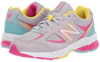 New Balance PK888v2 (Little Kid) (Grey/Rainbow) Girls Shoes
