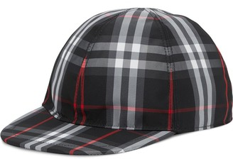 BURBERRY KIDS Check print baseball cap