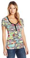 Desigual Women's Knitted T-Shirt Short Sleeve 22