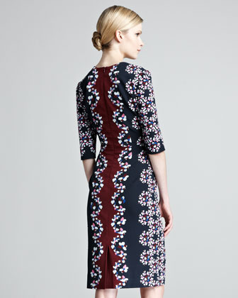 Erdem Sophia Printed Half-Sleeve Dress