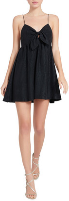 Alice + Olivia Melvina Tie-Front Gathered Babydoll Dress