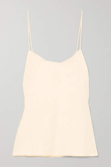 The Row Biggins Matte-satin Camisole - Cream