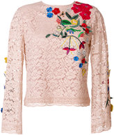 Alice + Olivia Alice+Olivia appliqué lace top