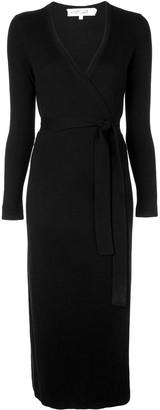 Dvf Diane Von Furstenberg Knitted Wrap Dress