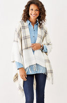J. Jill Plaid Ruana