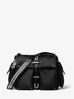 MICHAEL Michael Kors Olivia Large Studded Satin Messenger Bag