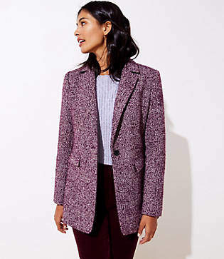 LOFT Tweed Long Modern Blazer