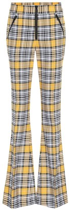 Veronica Beard Fraser plaid flared pants