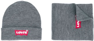 Levi's Knitted Logo Beanie & Scarf