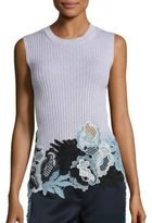 3.1 Phillip Lim Ribbed Lace Embroidered Tank Top