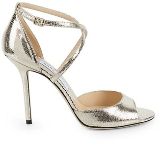 Jimmy Choo Emsy Patent Leather Stiletto Sandals