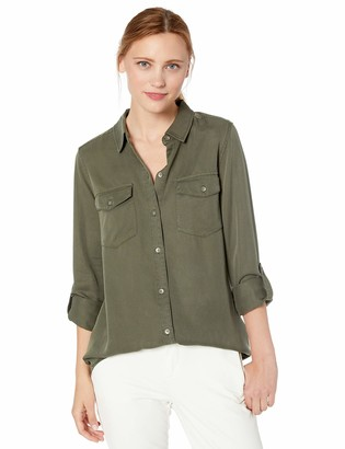 Daily Ritual Amazon Brand Women's Tencel Utility Shirt