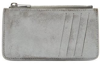Maison Margiela Coated Zipped Leather Cardholder - White
