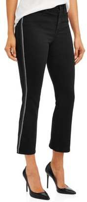 Sofia Jeans By Sofia Vergara Sofia Jeans Mayra Lurex Side Stripe High Waist Crop Flare Jean Women's
