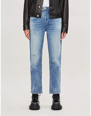 Rag & Bone Maya ripped straight high-rise jeans
