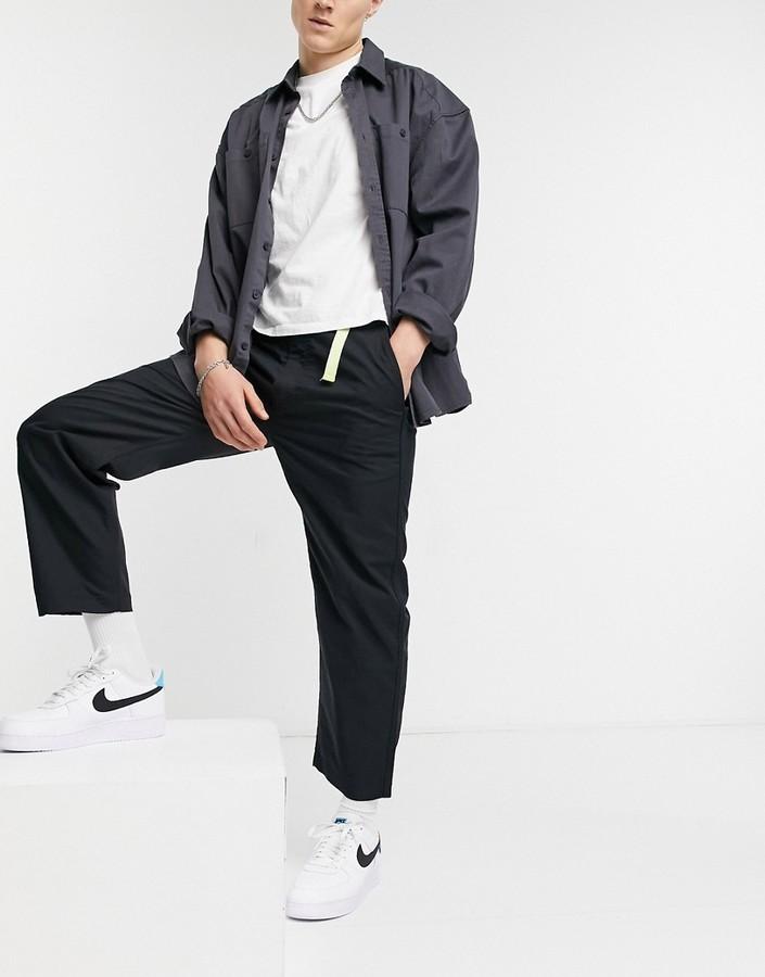 Levis Skateboarding Levi's Skateboarding highland tab waistpant poplin trousers in jet black