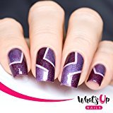 Whats Up Nails - Skinny Chevron Tape Nail Stencils Stickers Vinyls for Nail Art Design (2 Sheets, 360 Strips Total)