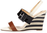 Kate Spade Isola Striped Wedge Sandal, Luggage