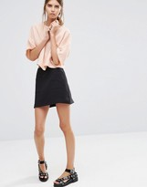 Vila Mini Skirt with Front Pockets