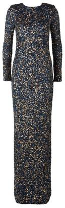 Rachel Gilbert Atlanta Long-Sleeve Sequin Gown