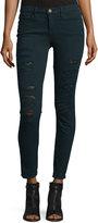 Frame Le Color Rip Skinny Jeans, Spruce
