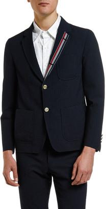 Thom Browne Men's Wool Seersucker Unconstructed Sport Jacket