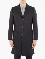 Éditions MR Navy Checked Wool Coat