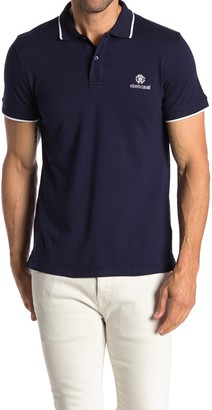 Roberto Cavalli Pipe Trim Short Sleeve Polo