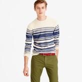 J.Crew Textured cotton crewneck sweater in blanket stripe