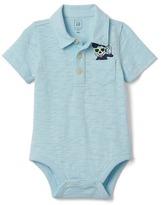 Gap babyGap | Disney Baby slub polo bodysuit
